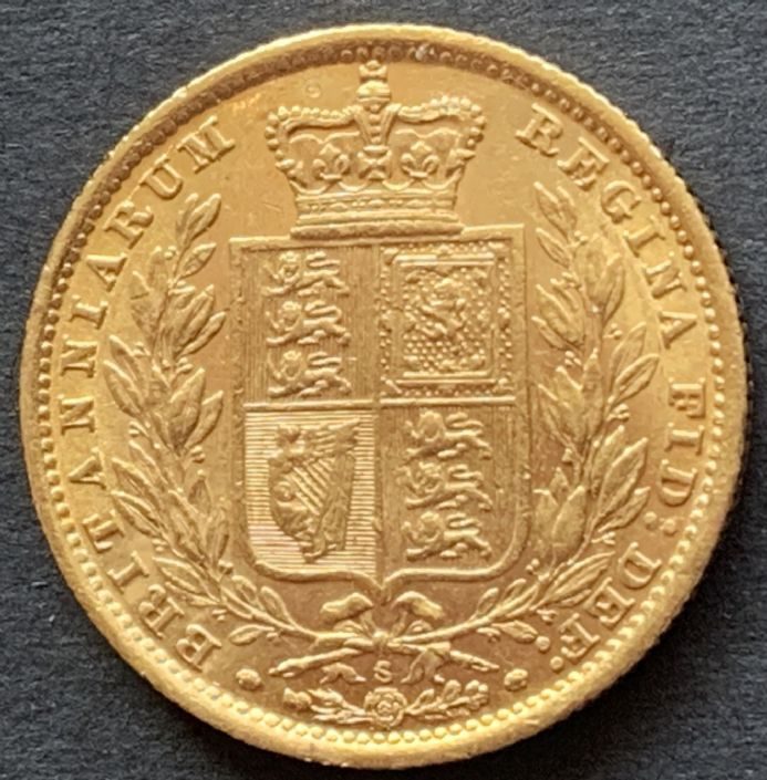 1886  Sydney Gold  Sovereign Coin